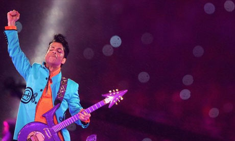 Prince at the Superbowl.