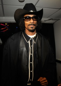 Snoop Dogg looking the part.