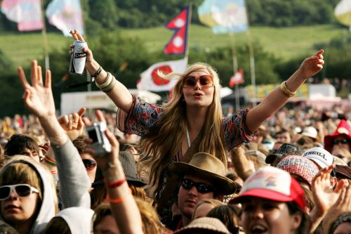 Celebrating the good life... at Glastonbury.  Would love to get there someday.
