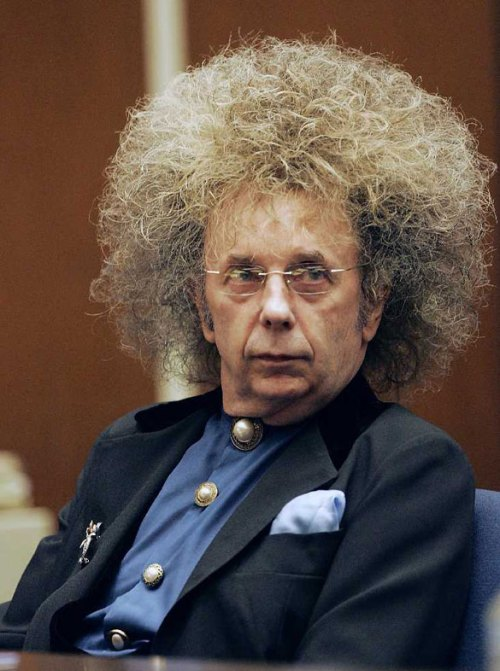 Afro sporting Phil Spector