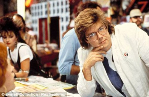 John Hughes..I think this is while filing Pretty in Pink due to Annie Potts on the side.